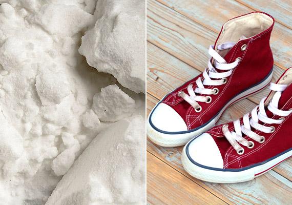 A szódabikarbóna nemcsak a lábra, a lábbelibe is jó. Szórj belőle este a cipőbe - annyit, hogy vastagon ellepje a cipő alját -, és reggel ki is porolhatod. Persze ha sokadik nekifutásra sem sikerül ezzel a módszerrel megszabadulnod a szagtól, lehet, hogy egyszerűen csak lejárt a cipő ideje.