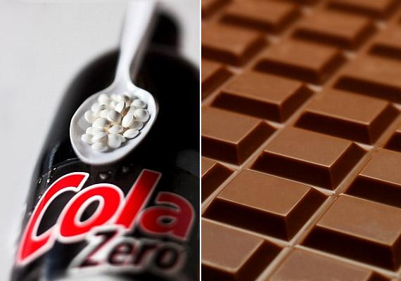 Ha a cukros üdítőt, csokoládét aszpartámmal vagy más mesterséges édesítővel készült diétás termékekre cseréled, azzal sem vagy kint a vízből. Tudd meg, miért veszélyesek ezek a cukor nélkül készült a táplálékok.