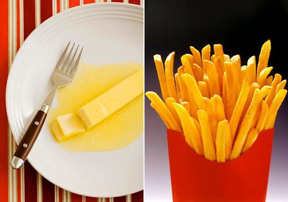 A hidrogénezett növényi olajokkal készült ételek - mint a sült krumpli, margarin, levespor, előre elkészített salátaöntetek - rontják az anyagcsere hatékonyságát, rákkeltő hatásúak lehetnek, illetve szívproblémákhoz vezethetnek.