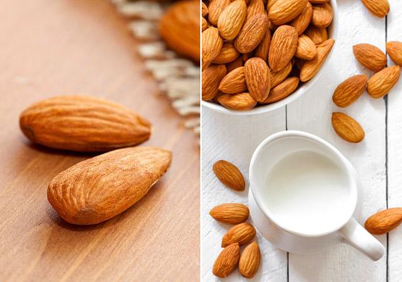 A mandula az egyik legalacsonyabb kalória- és legmagasabb kalciumtartalmú olajos mag. Emellett biztos forrása az erős rákellenes hatású E-vitaminnak is.