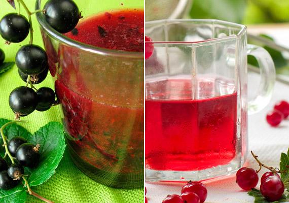 A bogyós gyümölcsök közül a feketeribiszke bír a legmagasabb C-vitamin-tartalommal: 100 gramm 160 milligrammot tartalmaz az antioxidáns hatású vitaminból. Ezen kívül rákellenes hatású flavonoidokat, antocianidokat, polifenolokat és E-vitamint is tartalmaz. A fekete mellett a piros változat is szabadgyökfogó hatású. Tégy három csésze ribizlit a turmixgépbe, önts hozzá egy pohár vizet, majd fogyaszd egészséggel az így kapott italt. Ha túl savanyú, egy kevés mézzel édesítsd.