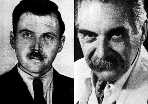 Josef Mengele - 1911-1979 - az auschwitzi koncentrációs tábor orvosa a foglyokon végzett embertelen, brutális kísérleteinek köszönhetően vált hírhedtté. Kísérletei elsősorban az ikrekre, illetve a valamilyen testi rendellenességekkel élő emberekre terjedtek ki.