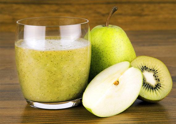 Körtés-kivis turmix                         A vitamindús kivi anyagcsere-serkentő hatású, és segíti a zsírbontó enzimek termelődését. Savanykás ízét az édeskés, rostban gazdag körtével ellensúlyozd!                         Hozzávalók: két kivi, fél lime, egy körte, egy pohár natúr joghurt.