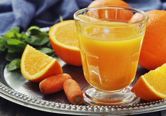 Répás-narancsos turmix                         Nemcsak gyümölcsöt gyümölccsel, de gyümölcsöt zöldséggel is turmixolhatsz. A vitamindús narancs és a béta-karotinban gazdag répa remek párosítás lehet.                         Hozzávalók: 2 dl frissen facsart narancslé, egy kisebb répa, egy evőkanál citromlé.