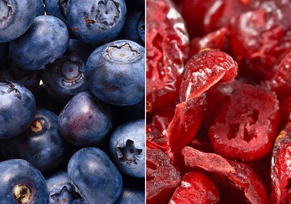 A fekete és a vörös áfonya - melyeket elsősorban aszalt formában fogyaszthatsz - kiváló őszi C-vitamin-források. 100 g belőlük körülbelül 160 mg-ot tartalmaz az immunerősítő vitaminból. Tudj meg többet az aszalt gyümölcsök egészségügyi hatásairól!