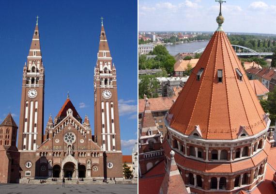 Szeged városának levegője - köszönhetően többek között a Tisza közelségének - ugyancsak kiváló. A képen a Szegedi Dóm - hazánk negyedik legnagyobb temploma látható.