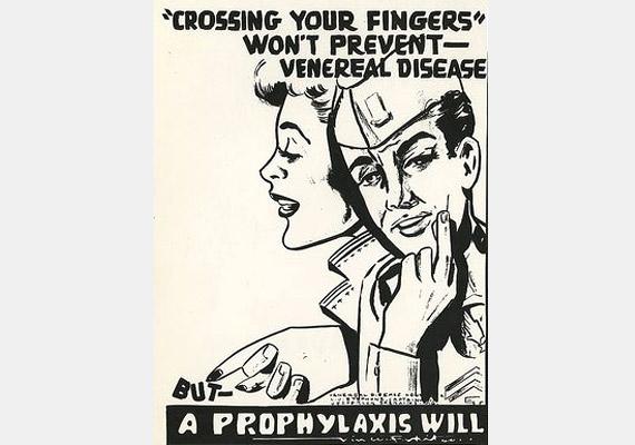 Keresztbe tett ujjakkal nem lehet megelőzni a nemi betegségeket. És milyen igaza van a plakátnak.