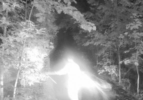 Egy másik különös képet egy georgiai férfi készített, aki elmondása szerint egy éjjel mozgó fényeket észlelt udvarában. Hogy a végére járjon, kamerákat szerelt fel. A felvett anyag bizonyíték lehet az angyalok vagy a szellemek létezésére: az egyik felvételen ez a fénylő, emberszerű alak látható.