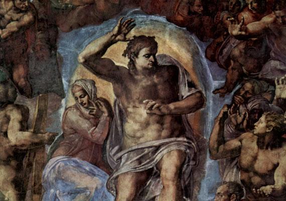 Kortársa, Michelangelo keze munkája a Sixtus-kápolna oltárképe, az Utolsó ítélet.