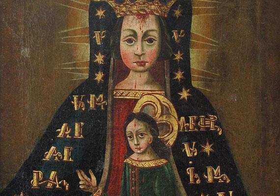 Szűz Máriának tulajdonítják a legtöbb csodát, így a vérkápolnai kegyképét is. Franczin Péter Pál itáliai származású, budai kéményseprő mester 1694-ben fogadalmat tett, hogy ha túléli a pestisjárványt, elzarándokol a Vigezzo-völgyben lévő Mária-kegyhelyre. Onnan hozta a Vérehulló Szűzanya kegyképének másolatát, melynek fogadalmi kápolnát is emeltetett. Az 1723-as tűzvészben a kápolna leégett, a kegykép azonban átvészelte azt.