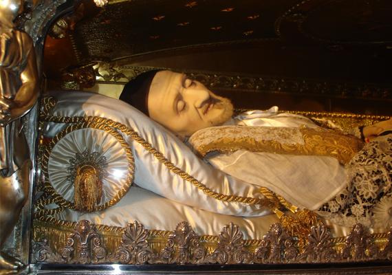 Sokan már életében is szentként tisztelték Páli Szent Vincét, a kórházak, árvaházak és foglyok védőszentjét, aki Franciaországban élt és működött, egyebek mellett karitatív tevékenységet végzett, gályarabok sorsát próbálta könnyebbé tenni. Ő alapította a Szeretet Leányai Társulatot, amely Irgalmas Nővérek néven vált világszerte ismertté. 1660-ban halt meg, 1737-ben szentté avatták, teste pedig máig épen fekszik Párizsban, a Csodásérem kápolnájában.                         Eredeti kép: itt.