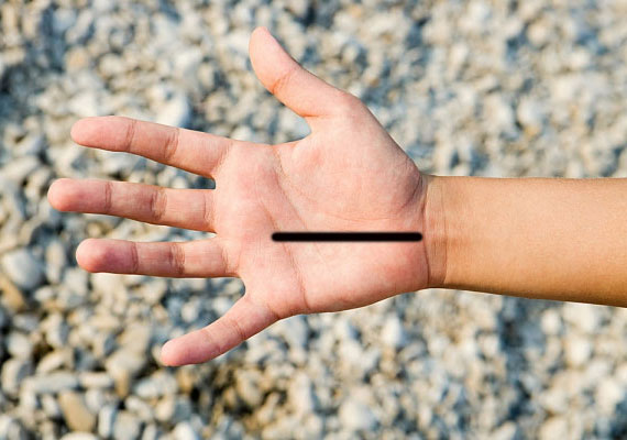 Az egyenes és törések nélküli sorsvonal alig fordul elő, ilyenkor az ember úgy érzi, mintha előre kiszabott pályán mozogna.