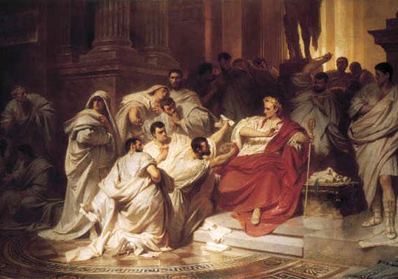 Julius Caesar halálát egy Spurinna nevű látnok jósolta meg.