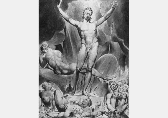 Az ördögöt nem csupán szárnyas, vagy kecskeszerű lényként ábrázolták, hanem teljesen emberszerű lényként is találkozhatunk vele, mint ahogyan egy kortárs művész képén is. Kép: Martin Jacobson: Sátán
