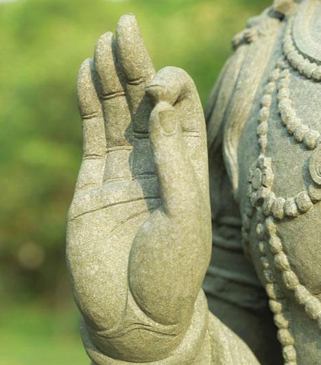 MudrákA mudrák olyan szimbolikus kéztartások, melyek a testben létrejövő blokkok oldásán keresztül segítenek megváltoztatni a lelki beidegződéseket, így hozzájárulnak a negatív karmikus elemek felismeréséhez.