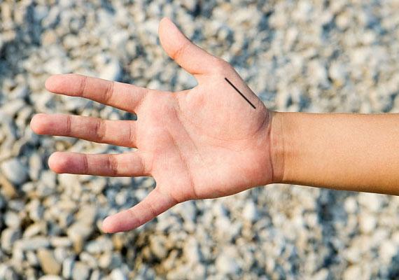 A hüvelykujj alatti függőleges vonal is a gazdagság jele.