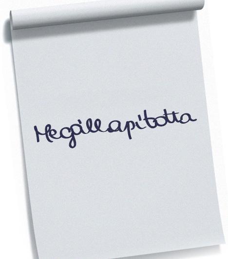 Telt írásA teltség gömbölyűségre törekvő betűformákat jelent. Az ilyen íráskép az érzelmi szféra túlsúlyát jelzi az értelmivel szemben. Ugyanakkor a teltség hiúságra, kacérságra is utalhat.