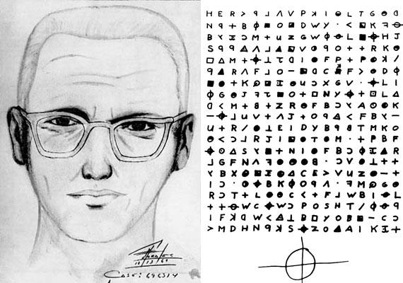 A zodiákus néven ismert sorozatgyilkos a hatvanas években tevékenykedett Észak-Kaliforniában, sosem sikerült elfogni. Kódolt leveleket küldött a helyi újságoknak, melyeket az állatöv kör alakú jelének egyszerűsített változatával írt alá.