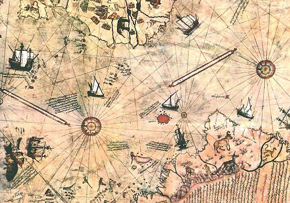 Piri Reis török tengernagy 1513 körülről származó térképe 1929-ben került elő, és még ma is csodaszámba megy. Nemcsak különös pontossága miatt, hanem azért is, mert szerepel rajta az akkor még felfedezetlen Dél-Amerika és Antarktisz.
