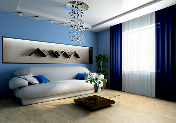 Ha 5-ös számú az otthonod, a kék színnel teremthetsz egyensúlyt benne, emellett üvegtárgyakat és vízzel teli edényeket, mini szökőkutakat is elhelyezhetsz.