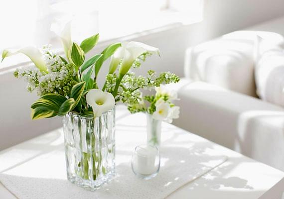 A 4-es számú otthonban érdemes minél több fehéret használnod, és helyezz el sok zöld növényt.