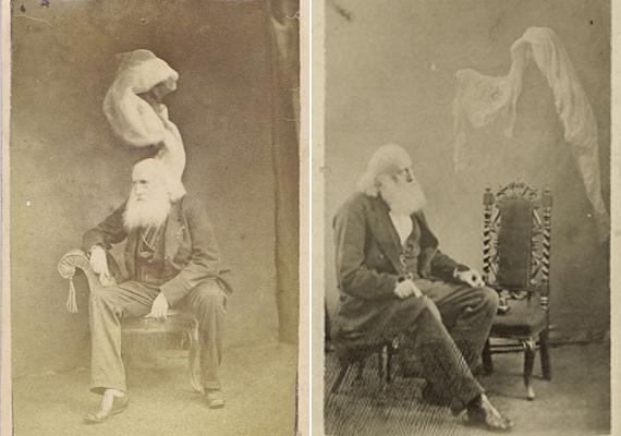 A kísértetek megjelenése igen változatos formákat öltött. Volt, aki egy sálszerű anyaggal ábrázolta a szellemeket.