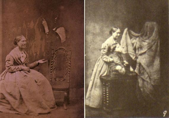 Mások emberi kinézetű, vagy bizarr, szögletes fejű, szellemöltözetbe bújt modellekkel ábrázolták a kísérteteket.