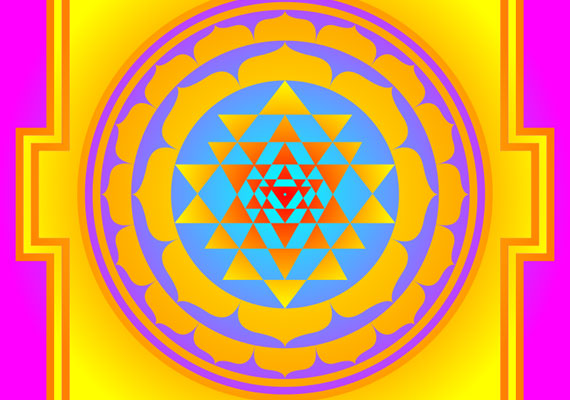 Az ókori Egyiptomban a háromszög a szeretetre, szerelemre való képesség jelképe volt, és ez az alapmintája a sri yantra mandalának is. A kép abban segít, hogy rendet tegyél a szerelmi életedben.