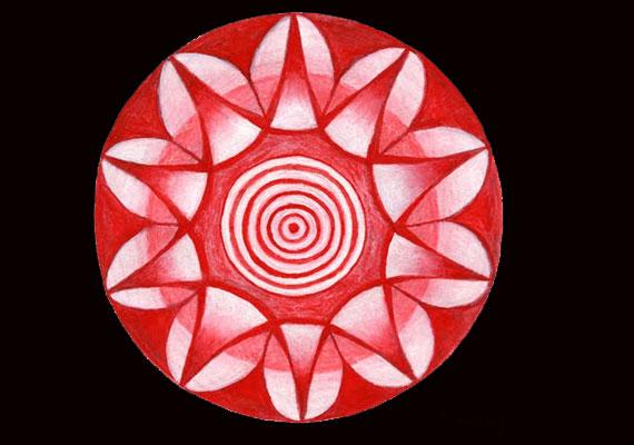 A szerelem piros színével meggyorsíthatod a változást az életedben, a spirál pedig a lélek egészségét szimbolizálja.