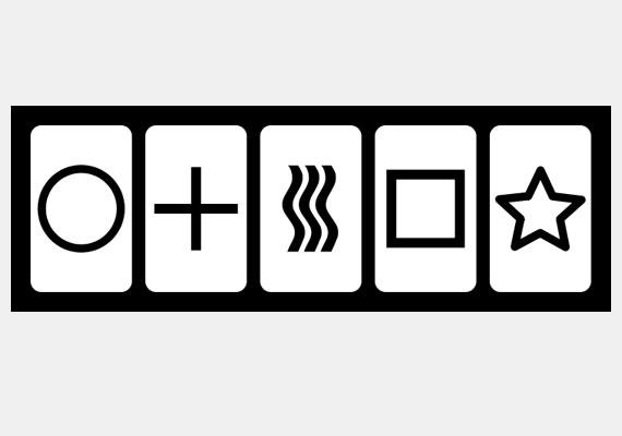 A Zener-kártyákat a harmincas években fejlesztette ki az észak-karolinai Duke egyetem pszichológusa, Joseph Banks Rhine, a pszi képességek tesztelésére. A 25 lapból álló csomag minden kártyáján más minta található - a vizsgálatban a küldő a lapok egyikét nézi, a fogadó pedig igyekszik kitalálni, hogy melyiket.
