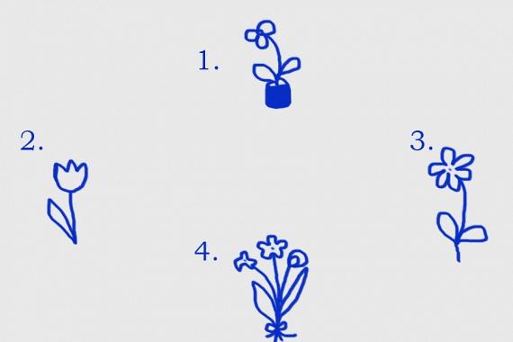 Hová rajzoltad a virágot az üres lapon?  1. Ha a lap tetejére tetted, kíváncsi természet lehetsz, akinek nagy a tudásvágya. A lelkiek és a képzelet domináns nálad.  2. Ha a lap bal oldalára alkottál, a múlt számodra igen fontos lehet. Emellett, bár mindkét szülődhöz erős érzelmek fűzhetnek, közülük édesanyáddal lehet köztetek dominánsabb a kötelék.  3. Ha a lap jobb oldalára rajzoltál, a jövőt tartatod inkább szem előtt a múlttal szemben. Emellett, bár mindkét szülődhöz erős érzelmek fűzhetnek, közülük édesapáddal lehet köztetek dominánsabb a kötelék.  4. Ha a lap aljára készítetted a virágot, biztonságigényed nagy lehet, és nagy figyelmet fordíthatsz mindennapjaid eseményeinek optimális kimenetelére.  Amennyiben középre rajzoltál, kiegyensúlyozott lehetsz, és harmóniában lehetsz önmagaddal.