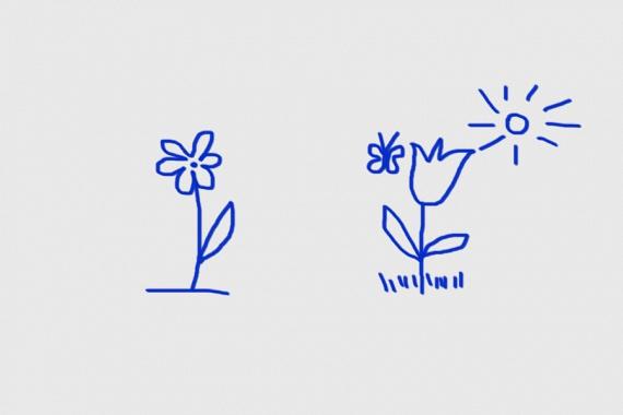 Milyen a virágod környezete?                         Rajzoltál talajt?                         Ha igen, akkor kontrollálhatod belső késztetéseidet, és meg akarsz felelni másoknak. Ha nem, akkor ösztöneid vezérelhetnek, és nem mások véleménye.                         Van a virágnak környezete?                         Amennyiben környezetet is rajzoltál a virág köré, például napot, akkor derűlátó lehetsz, és pozitív, és érezheted környezeted szeretetét, odafigyelését.