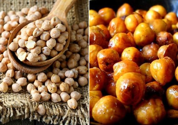 A magas fehérje- és rosttartalmú csicseriborsót ropogósra sütheted egy kevés mézzel és fahéjjal - kiváló rágcsálnivalót nyerve ezáltal. Készíthetsz belőle humuszt is, kattints ide egy jó receptért!