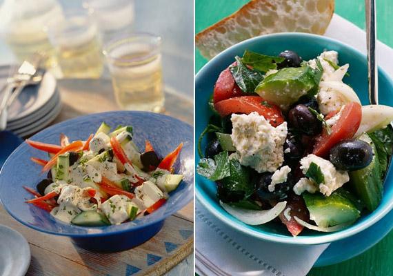A görögsaláta nagy előnye, hogy nem kell hozzá semmilyen hizlaló öntet. Mindössze uborkát, paradicsomot, egy kevés lilahagymát, olívabogyót kell hozzá összedarabolnod. Morzsolj rá feta sajtot, és ízesítheted oregánóval, bazsalikommal. Kattints a pontos receptért!