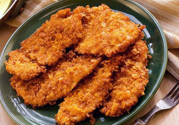A panírozott hús egyesíti az anyagcsere két rémálmát - a fehér lisztet és a forró olajat.