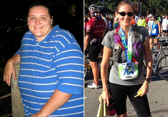 Carrie Moran nem kevesebb, mint 80 kiló súlyfeleslegtől szabadult meg, amikor belátta, hogy plusz kilói már jó ideje nemcsak esztétikai problémát, hanem olyan egészségügyi gondokat is okoznak számára, mint a térdfájdalom, a légzési nehézség vagy a kezdődő zsírmáj. Kattints, és nézd meg, milyen módszerrel fogyott!