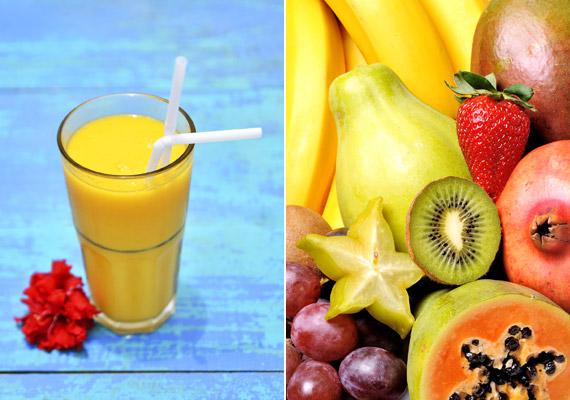 A multivitaminlevek - különösen, ha papayát és mangót is tartalmaznak - ugyancsak magas energiatartalommal bírnak: 2 deciliter belőlük legalább 100 kalóriát tartalmaz.