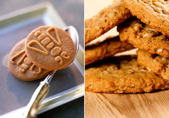 A különféle zabos és reggeliként ajánlott kekszekre szeretik rásütni, hogy egészségesek, diétásak. Hiszen teljes értékű gabonával készülnek, sokszor csökkentett cukortartalommal. Az igazság azonban az, hogy a teljes kiőrlésű gabona vagy zab csak egyike a fő alkotóelemeknek, a maradék sima, hizlaló fehér liszt. Cukor minden esetben van bennük - kevesebb vagy több -, ráadásul a zabos verziókban só is nagy mennyiségben található. Ilyen kekszeket - sokkal egészségesebb és alakkímélőbb változatban - otthon is süthetsz, de a boltok polcain találsz minimális árdifferenciával cukormentes, teljes kiőrlésű kekszeket is. Zabot egyébként, otthon feldolgozva, érdemes sokat enned, remek a diétához.