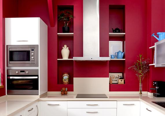Szakértők szerint a piros szín fokozza leginkább az étvágyat. Ha tehát a konyhád színe a piros valamely árnyalatában pompázik, jó eséllyel többet eszel majd. A színek étvágyra gyakorolt hatásáról bővebben olvashatsz itt.