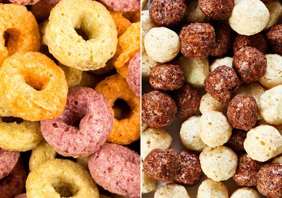 Míg a zabpehely magas rosttartalma hozzájárul az egészséges anyagcsere-folyamatokhoz, a színes, édesített müzlik, gabonakarikák és -golyók fogyasztása sokkal inkább a vércukorszintet nyomja fel a reggeli órákban. Kattints korábbi cikkünkre, és tudj meg többet arról, hogy milyen rejtett cukorforrásokkal találkozol nap mint nap.
