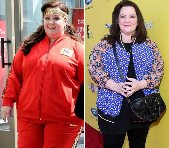 A Szívek szállodája című sorozatból megismert Melissa McCarthy tavaly ősszel 20 kilót fogyott szinte egyik hónapról a másikra. A 44 éves színésznő alacsony szénhidrát- és magas fehérjetartalmú étrendet követ, nem eszik kenyeret és tésztát. Mint mondja, inkább az egészségmegőrzés a célja, nem pedig az, hogy sovány legyen.