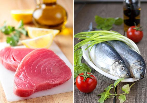 Egy padovai kutatás szerint a halban gazdag étrend javítja a szervezet leptinválaszát - vagyis a tested előbb reagál a jóllakottságot jelző hormon termelésére. Érdemes tehát hetente legalább kétszer tengeri halakat - makrélát, heringet, tonhalat - fogyasztanod. Próbáld ki az omega-3-diétát!