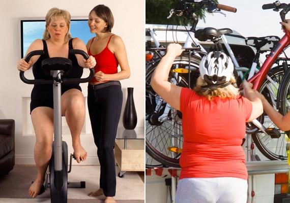 A kerékpározás jóval kíméletesebb az ízületekkel, mint a futás. Télen végezheted a szobában, de tavasztól érdemes odakint is nyeregbe pattanni. Lassú tempójú tekerés mellett 280 kalóriát égethetsz el fél óra alatt.