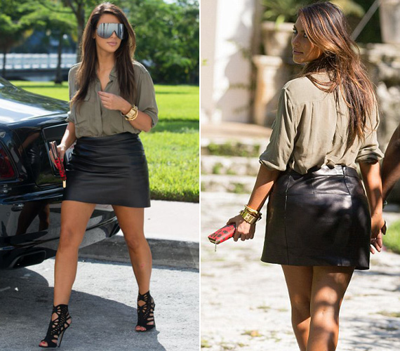 A magát színésznőnek és modellnek valló valóságshowsztár, Kim Kardashian elégedett dús idomaival. Előszeretettel visel olyan ruhákat, amelyek kiemelik gömbölyű hátsóját.
