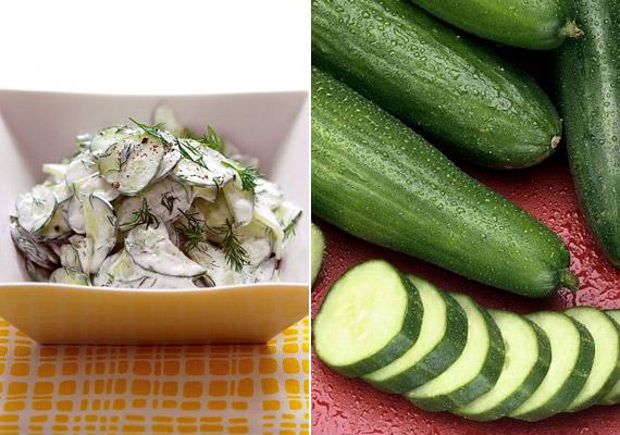 A hagyományos joghurtnál valamivel sűrűbb görög változat friss, ropogós uborkával tökéletes, probiotikumban gazdag diétás tízórai. Adhatsz hozzá zöldfűszereket is - ízlés szerint. Egy adag 90-100 kalória.