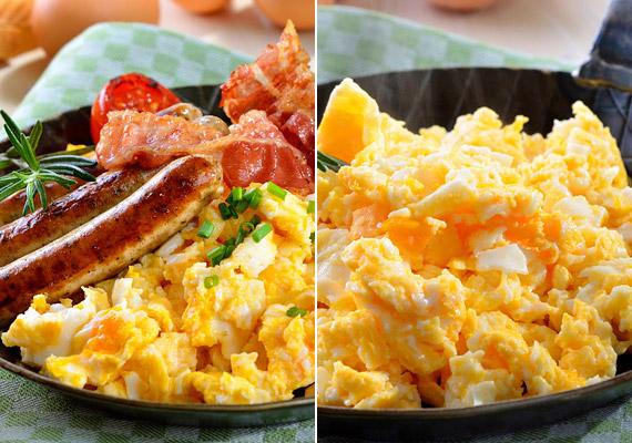 A rántotta szalonnával, sült kolbásszal, illetve anélkül kiváló fehérjedús, energiát adó reggeli. A nap első étkezése során még a kalóriabevitel miatt sem kell aggódnod. Tudod, miért?