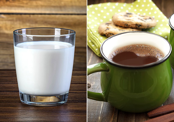 Bár a tej kedvelt reggeli ital, gyorsan felszívódó szénhidrátokat - tejcukrot - tartalmaz, így éhgyomorra történő fogyasztása még túlságosan megdolgoztatja a hasnyálmirigy inzulintermelő sejtjeit. Éppen ezért a tejet, de különösen a cukrozott kakaót legkorábban tízóraira fogyaszd, ha szeretnél leadni pár kilót.
