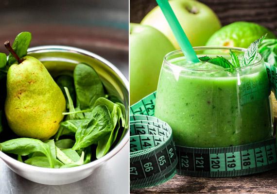 A fenti képen látható zöld smoothie nem olyan vad, mint első ránézésre tűnik. Kellemes ízét a benne lévő körte és alma biztosítja - nem csak spenótból és petrezselyemből áll. A pontos receptért kattints korábbi cikkünkre!