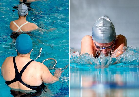 A vízi sportok kifejezetten javasoltak túlsúly esetén, hiszen a testre ható felhajtóerőnek köszönhetően nem éri terhelés az ízületeket. Akár egy közeli tavat, akár az uszodát választod, már fél óra könnyed úszkálással is 260 kalóriát égethetsz el - mellúszással pedig akár 430 kalóriát is.