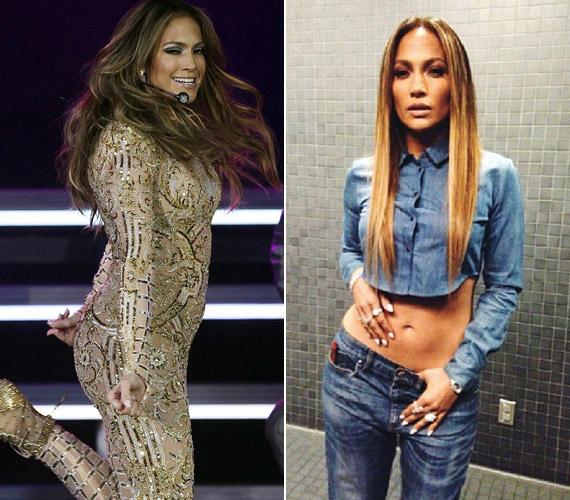 Jennifer Lopez sohasem tartozott a nádszálkarcsú sztárok közé, erősen gömbölyded feneke pedig a védjegyévé vált. A 44 éves énekesnő 2013-ban új menedzsere nyomására több mint tíz kilótól szabadult meg. Azért mi teltebben is szerettük. Nézz meg még több képet róla!